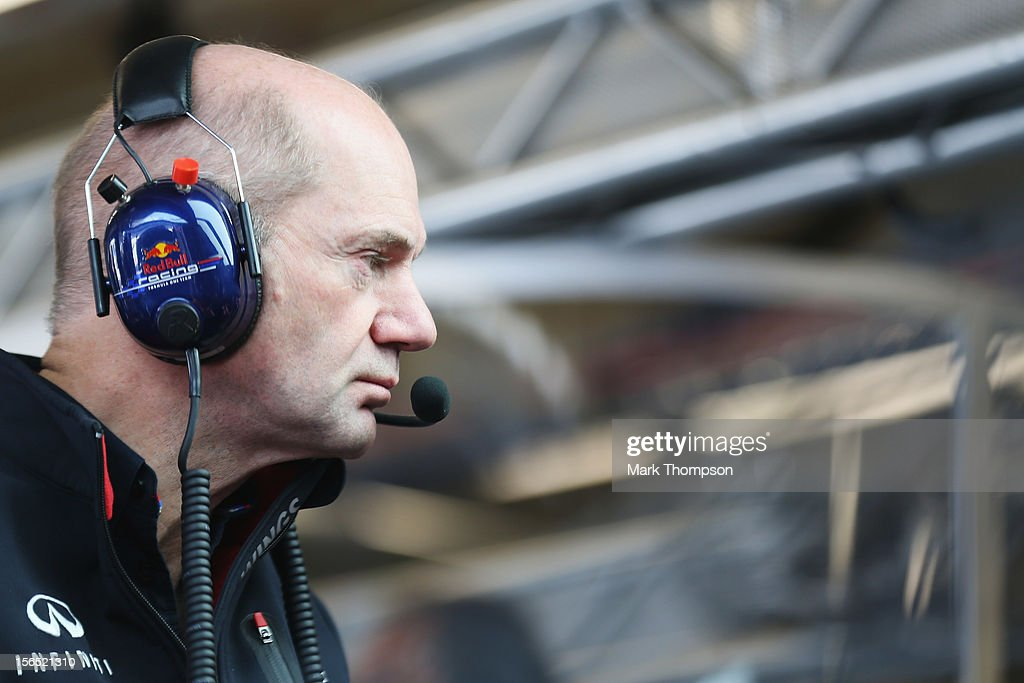 Red Bull Racing Chief Technical Officer Adrian Newey is seen during practice for the United States Formula One Grand Prix at the Circuit of the Americas on November 16, 2012 in Austin, Texas.