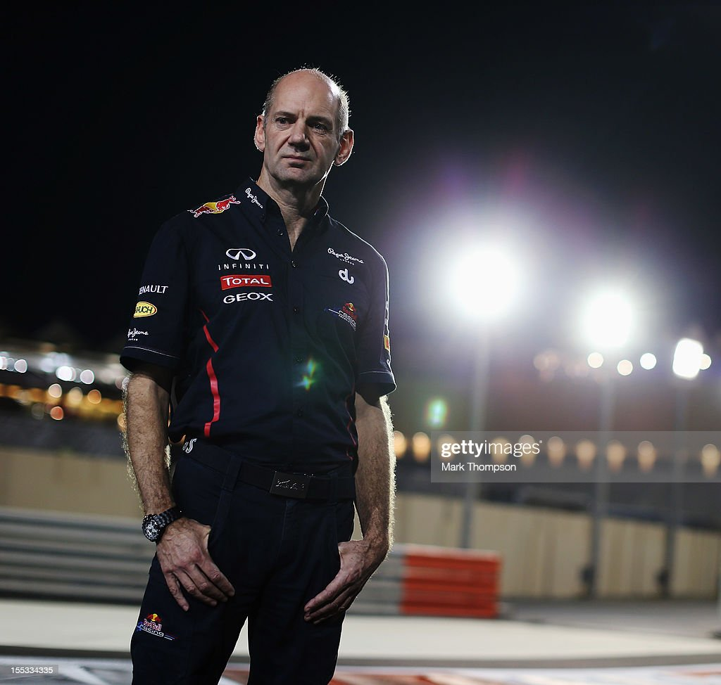 Red Bull Racing Chief Technical Officer <a gi-track='captionPersonalityLinkClicked' href=/galleries/search?phrase=Adrian+Newey&family=editorial&specificpeople=215410 ng-click='$event.stopPropagation()'>Adrian Newey</a> is seen following practice for the Abu Dhabi Formula One Grand Prix at the Yas Marina Circuit on November 2, 2012 in Abu Dhabi, United Arab Emirates.