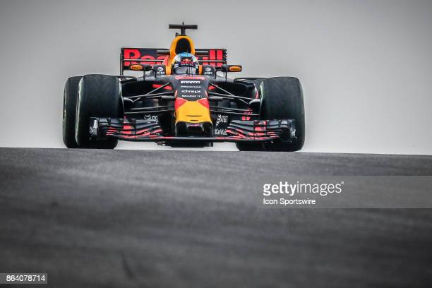 Red Bull Racing driver Daniel Ricciardo of Australia drives through turn 10 during morning practice for the Formula 1 United States Grand Prix on...