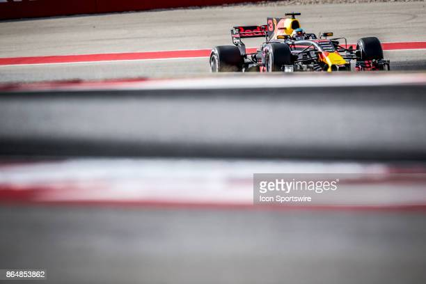 Red Bull Racing driver Daniel Ricciardo of Australia drives through turn 8 during qualifying for the Formula 1 United States Grand Prix on October 21...