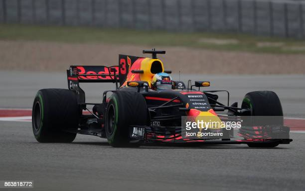Red Bull Racing driver Daniel Ricciardo of Australia during 1st practice for the US Grand Prix on October 20 at COTA in Austin TX