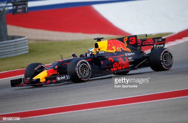 Red Bull Racing driver Daniel Ricciardo of Australia during third practice session classification for the US Grand Prix at Circuit of The Americas on...