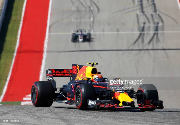Red Bull Racing driver Max Verstappen of Netherlands during the United States Grand Prix on October 22 at the Circuit of The Americas in Austin TX