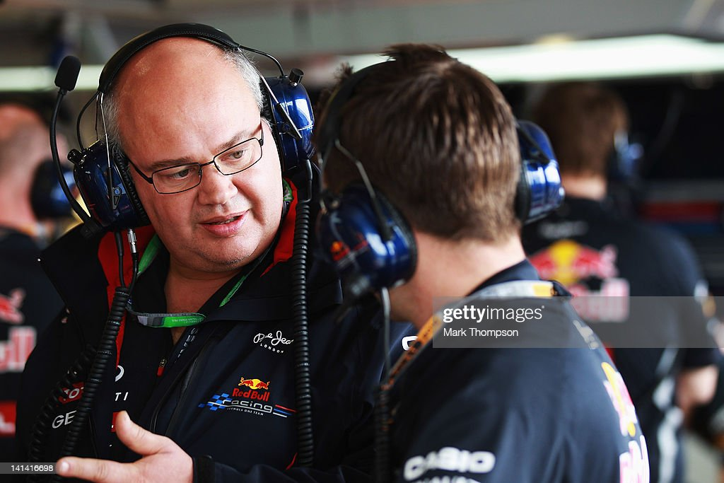 Red Bull Racing Team Chief Designer Rob Marshall is seen during practice for the Australian Formula One Grand Prix at the Albert Park circuit on March 16, 2012 in Melbourne, Australia.