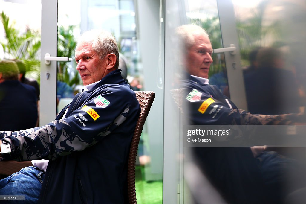 Red Bull Racing Team Consultant Dr Helmut Marko during the Formula One Grand Prix of Russia at Sochi Autodrom on May 1, 2016 in Sochi, Russia.