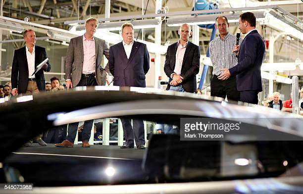 Red Bull Racing Team Principal Christian Horner talks on stage with David King Vice President Chief Special Operations Officer Aston Martin Lagonda...