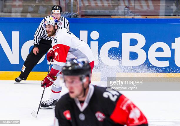Red Bull Salzburg Thomas Raffl who scored Salzburg goal during the Champions Hockey League group stage game between SonderjyskE Vojens and Red Bull...