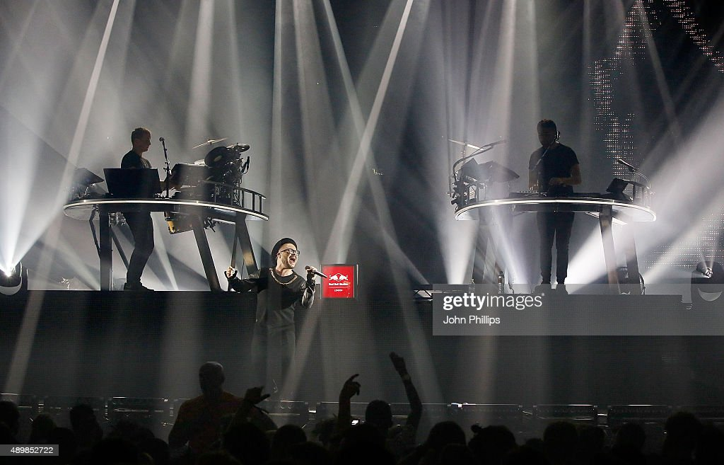 Red Bull Studios London Presents Disclosure Live on stage with vocalist Brendan Reilly at the Troxy on September 24 2015 in London England