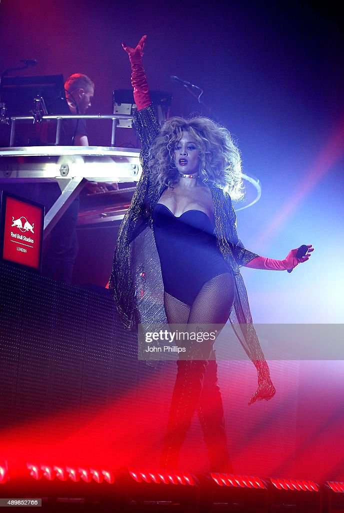 Red Bull Studios London Presents Disclosure Live on stage with Lion Babe vocalist Jillian Hervey at the Troxy on September 24 2015 in London England