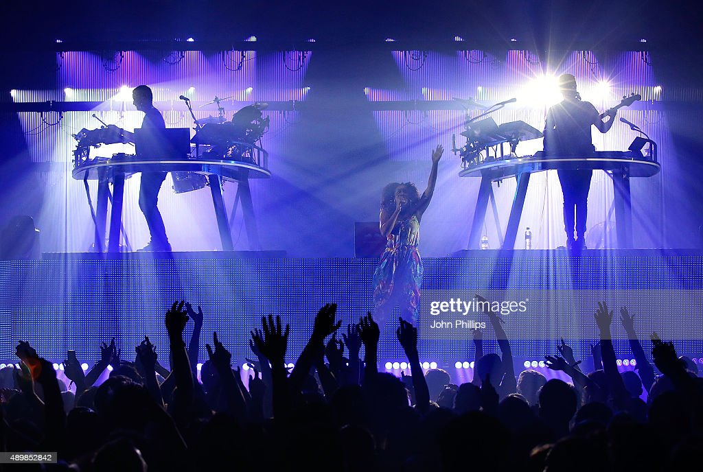 Red Bull Studios London Presents Disclosure Live on stage with vocalist Nao at the Troxy on September 24 2015 in London England
