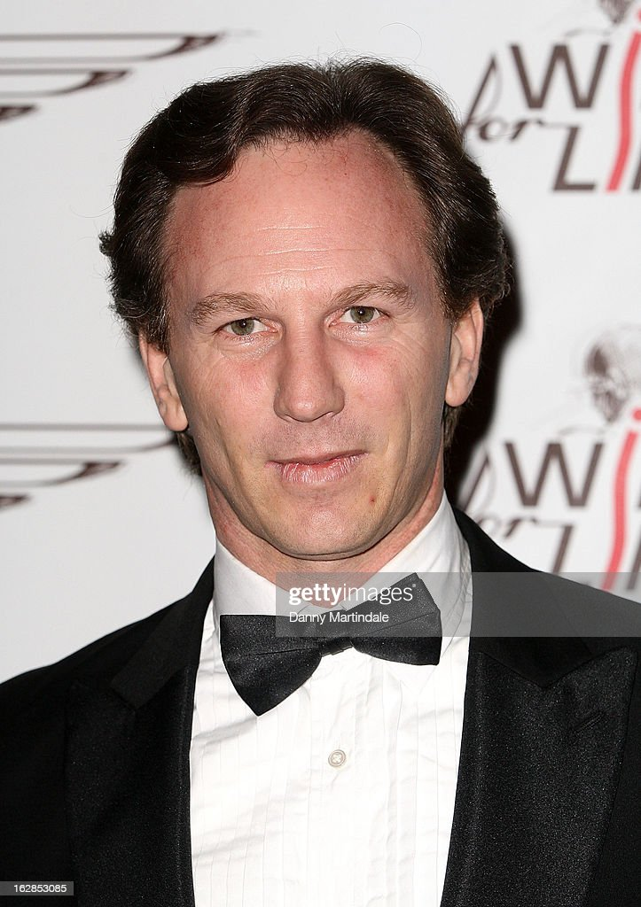 Red Bull team principal Christian Horner attends a dinner and ball hosted by The Cord Club in aid of Wings For Life at One Marylebone on February 28, 2013 in London, England.