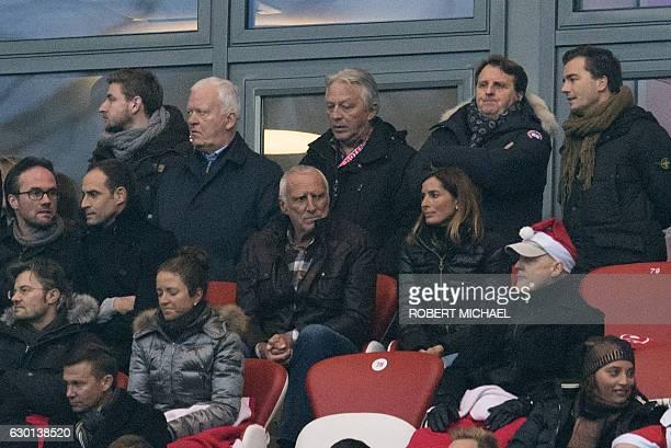 Red Bull's Austrian founder Dietrich Mateschitz attends the German first division Bundesliga football match between RB Leipzig and Hertha BSC Berlin...