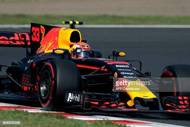 Red Bull's Dutch driver Max Verstappen drives during the Formula One Japanese Grand Prix at Suzuka on October 8 2017 / AFP PHOTO / Kiyoshi OTA