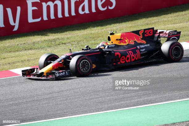 Red Bull's Dutch driver Max Verstappen drives during the Formula One Japanese Grand Prix at Suzuka on October 8 2017 / AFP PHOTO / Behrouz MEHRI