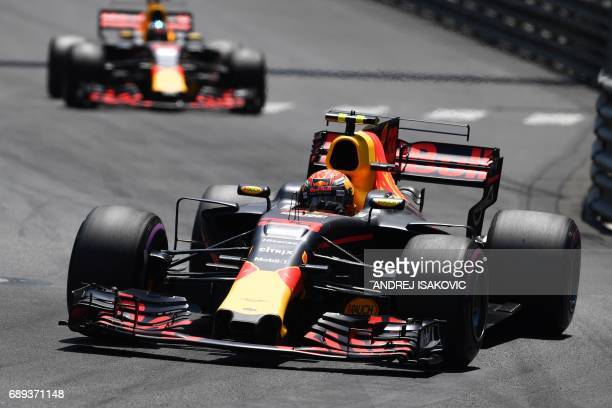 Red Bull's Dutch driver Max Verstappen drives during the Monaco Formula 1 Grand Prix at the Monaco street circuit on May 28 2017 in Monaco / AFP...