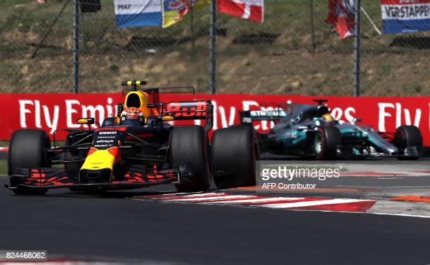 Red Bull's Dutch driver Max Verstappen races at the Hungaroring circuit in Budapest on July 30 during the Formula One Hungarian Grand Prix / AFP...