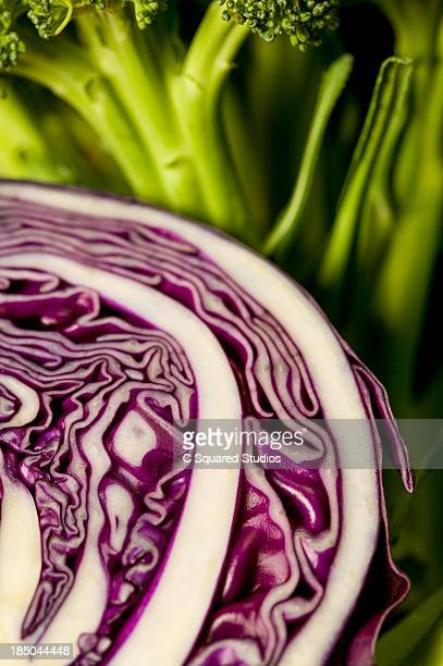 Red Cabbage and Broccoli