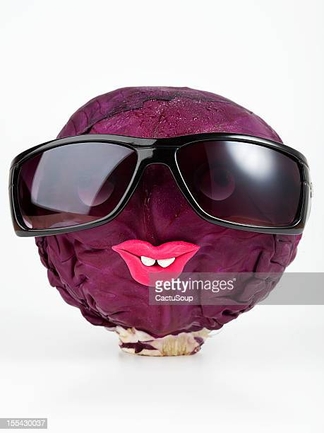 Red cabbage portrait