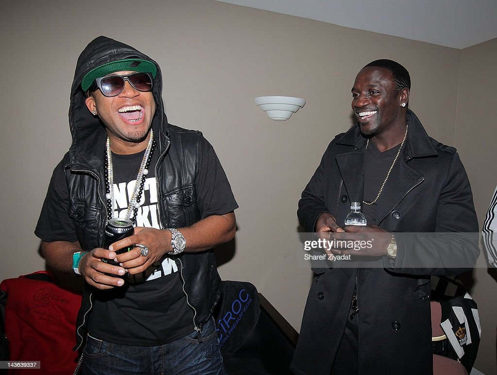 Red Cafe and Akon attend the DJ ProStyle Birthday Concert at Hammerstein Ballroom on April 30, 2012 in New York City.