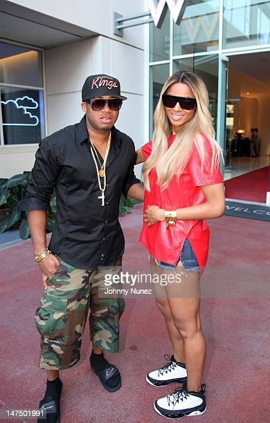 Red Cafe and Ciara attend the Epic Records 'Epic Moment' Event at The Station Hollywood on June 30 2012 in Hollywood California