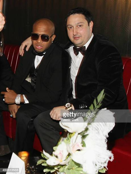 Red Cafe and David Bling attend Fabolous' The Great Fabsby Birthday Celebration at Jazz Room at the General on November 18 2013 in New York City