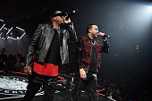 Red Cafe and French Montana perform onstage during the Puff Daddy and The Family Bad Boy Reunion Tour presented by Ciroc Vodka and Live Nation at...