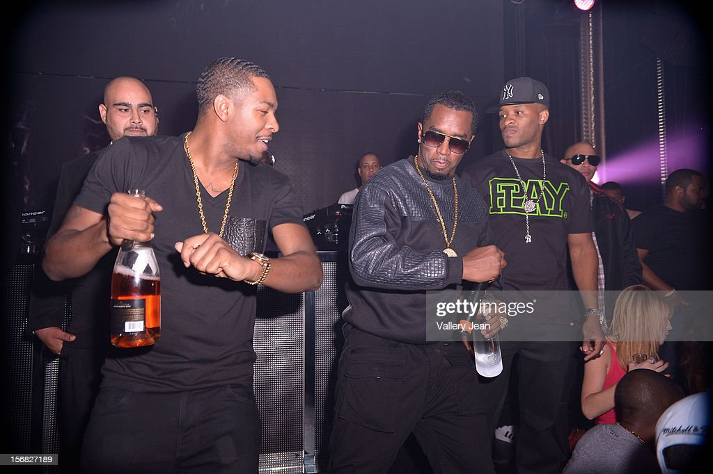 Red Cafe and P. Diddy celebrate Thanksgiving at Bamboo Miami on November 21, 2012 in Miami, Florida.