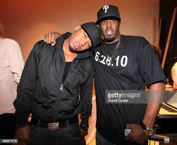 Red Cafe and Sean 'Diddy' Combs attend Dirty Money's 'Last Train to Paris' album listening party at Daddy's House on May 17 2010 in New York City