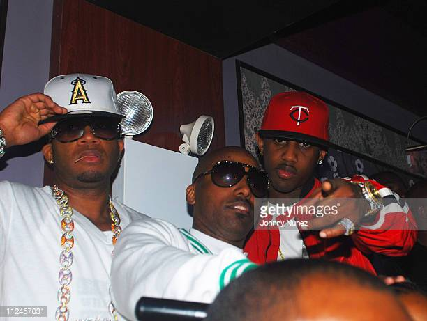 Red Cafe OB and Fabolous attend Young Jeezy's album release party at Prime on August 26 2008 in New York City