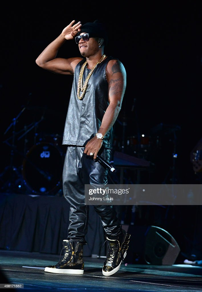 Red Cafe performs with Fabolous during the 2014 UM Homecoming Concert at Bank United Center on October 30 2014 in Miami Florida