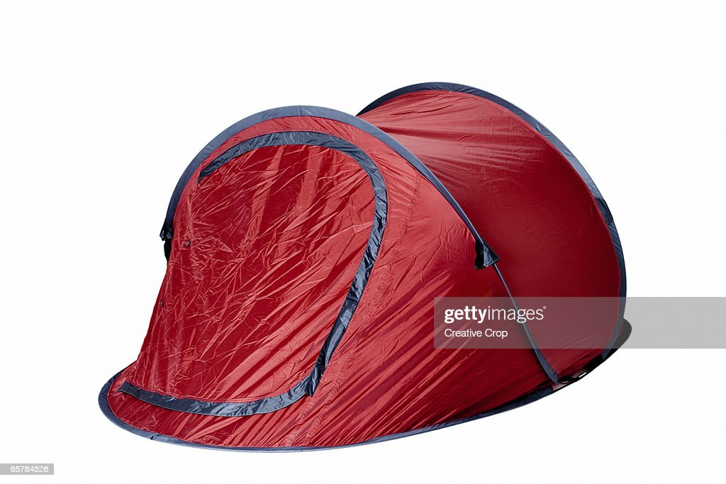 Red camping tent : Stock Photo