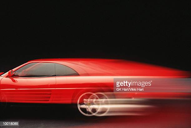 Red car (blurred motion)