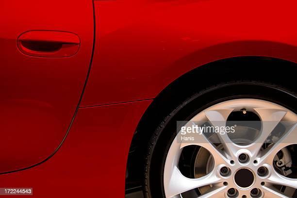 Rojo car lado