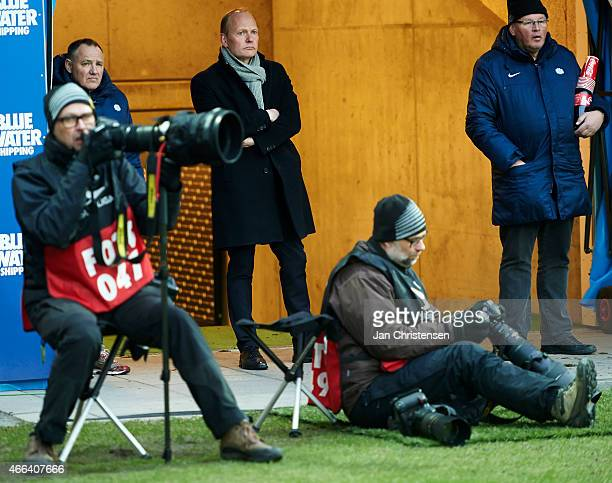 Red card for Niels Frederiksen head coach of Esbjerg FB during the Danish Alka Superliga match between Esbjerg FB and FC Copenhagen at Blue Water...