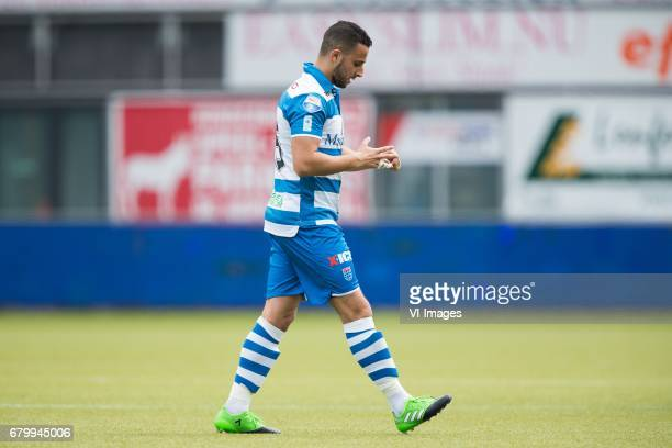 red card for Ouasim Bouy of PEC Zwolleduring the Dutch Eredivisie match between PEC Zwolle and sc Heerenveen at the MAC3Park stadium on May 07 2017...