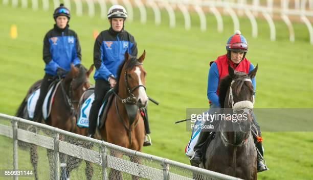 Red Cardinal Garcia and Kaspersky this morning at Werribee Racecourse on October 11 2017 in Werribee Australia