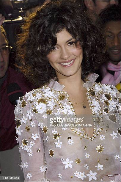 Red Carpet Arrivals 30th Cesar Awards Ceremony at the Theatre du Chatelet in Paris France on February 26 2005 Actress Audrey Tautou