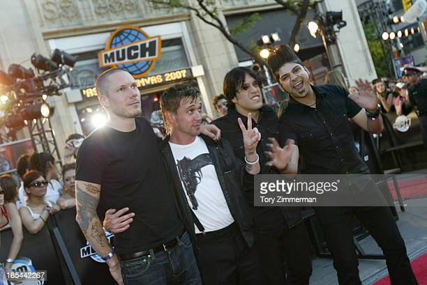 MMVAS Red carpet arrivals at the Much Music Video Awards In this pic Billy Talent