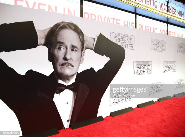 Red Carpet Atmosphere at the Broadway opening night performance of 'Present Laughter' at St James Theatreon April 5 2017 in New York City