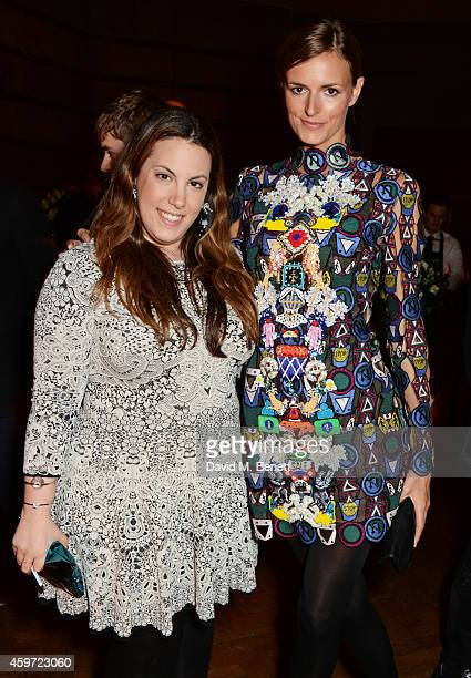 Red Carpet Designer nominee Mary Katrantzou and Jacquetta Wheeler attend the British Fashion Awards Nominees' Dinner hosted by Grey Goose at the Soho...