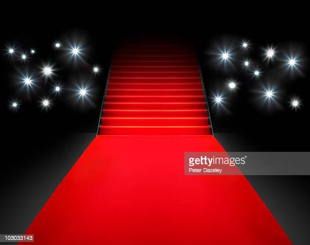 Red carpet event with paparazzi