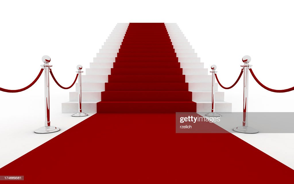 Red carpet with stairs (silver)