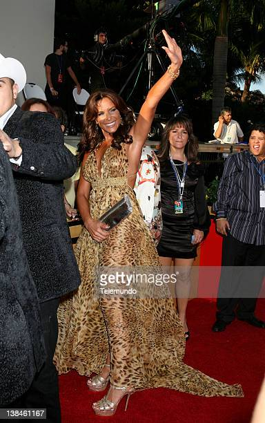 AWARDS Red Carpet NBCU EXCLUSIVE Pictured Lorena Rojas arrives at the 2008 Billboard Latin Music Awards held at the Seminole Hard Rock Hotel Casino...