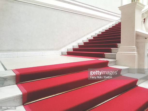 Red Carpet On Staircase Of House