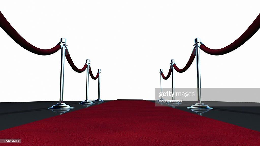 Red Carpet On White : Stock Photo