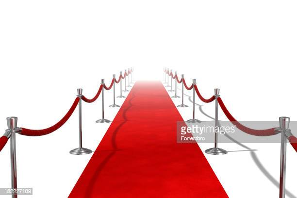 Red Carpet on White