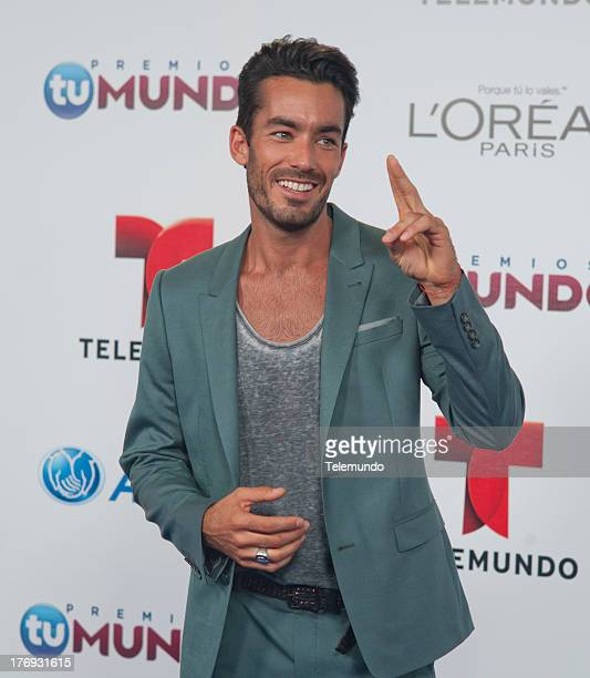 Aaron Diaz arrives at the 2013 Premios Tu Mundo from the American Airlines Arena in Miami Florida August 15 2013