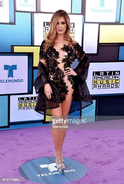 AWARDS 'Red Carpet' Pictured Actress Carmen Aub arrives at the 2016 Latin American Music Awards at the Dolby Theater in Los Angeles CA on October 6...