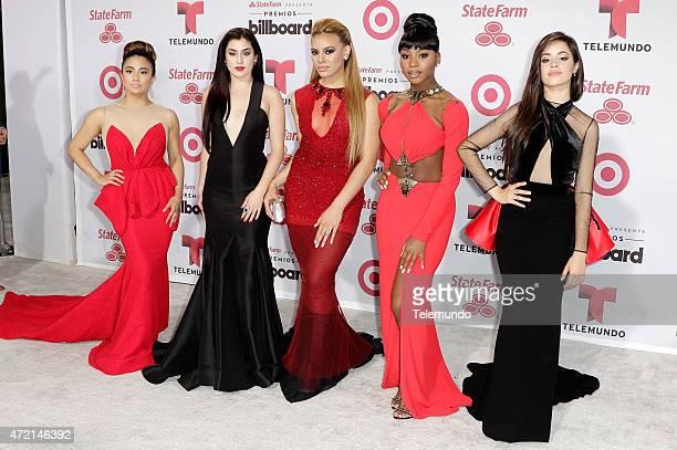 Ally Brooke Hernandez Dinah Jane Hansen Camila Cabello Normani Kordei and Lauren Jauregui of Fifth Harmony arrive at the 2015 Billboard Latin Music...