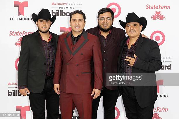 Julión Álvarez Y Su Norteño Banda arrive at the 2015 Billboard Latin Music Awards from Miami Florida at the BankUnited Center University of Miami on...
